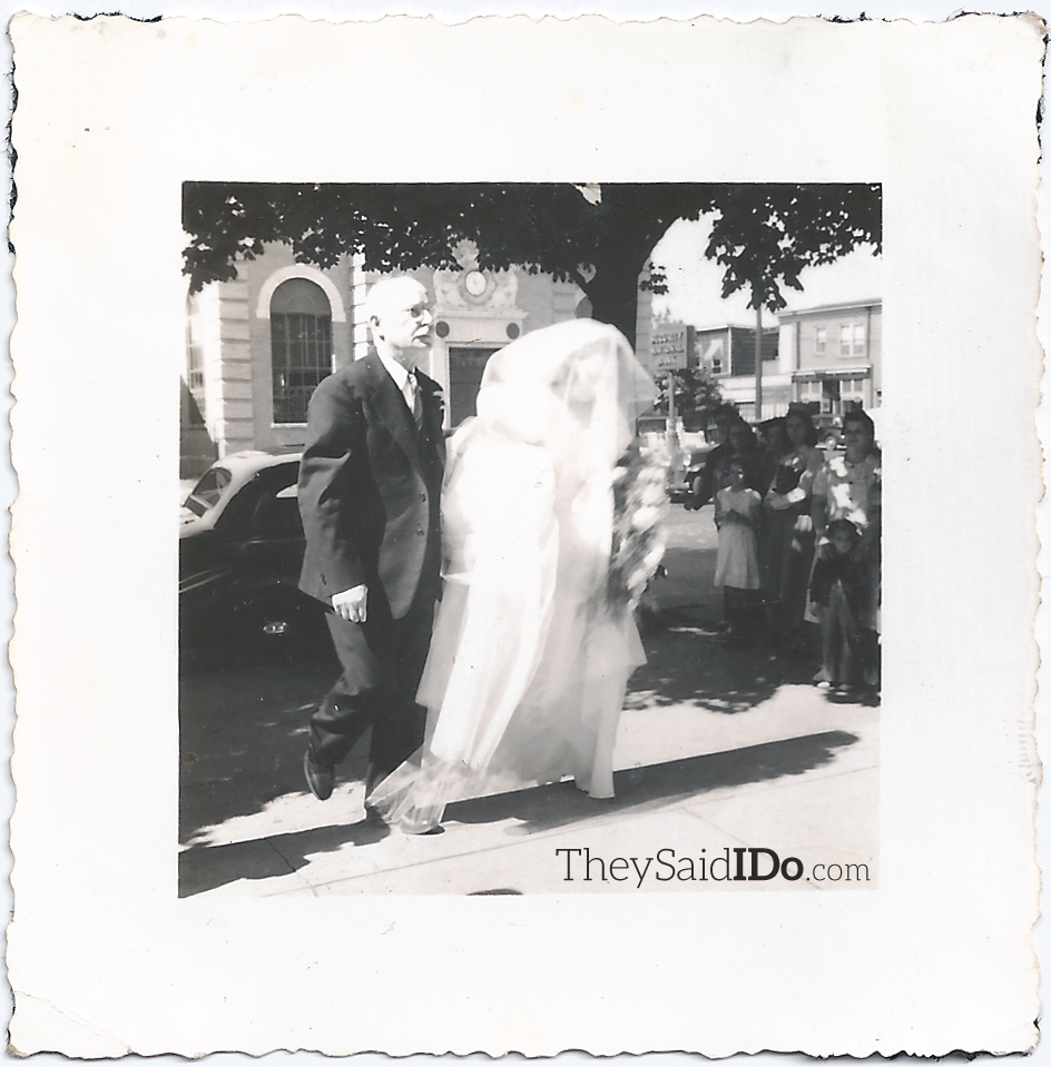 Father of the Bride - 1940s {TheySaidIDo.com}