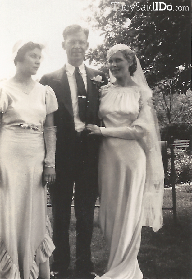 Nellie, Bob & Lillian on their wedding day 6-3-1935
