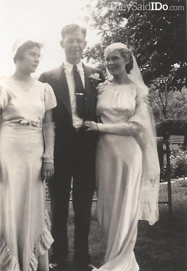 Nellie, Bob & Lillian on their wedding day 6-3-1935