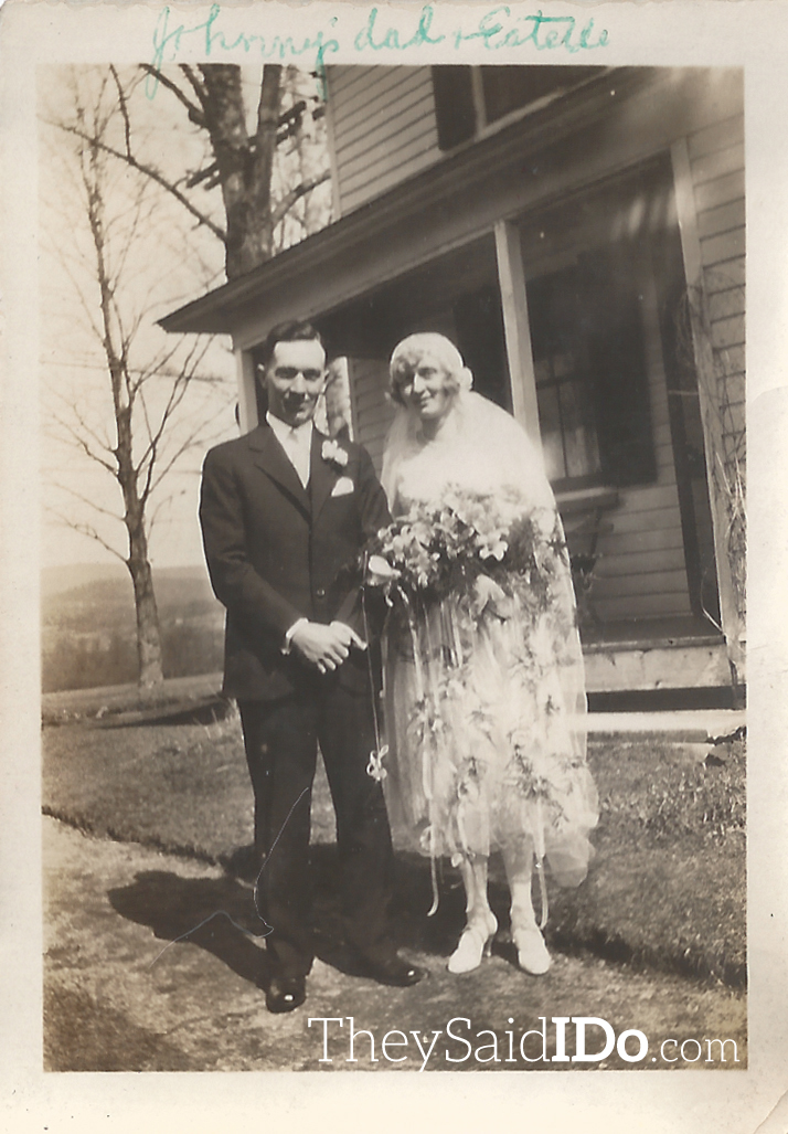 Captioned: Johnny's Father & Mother - Oct 1924