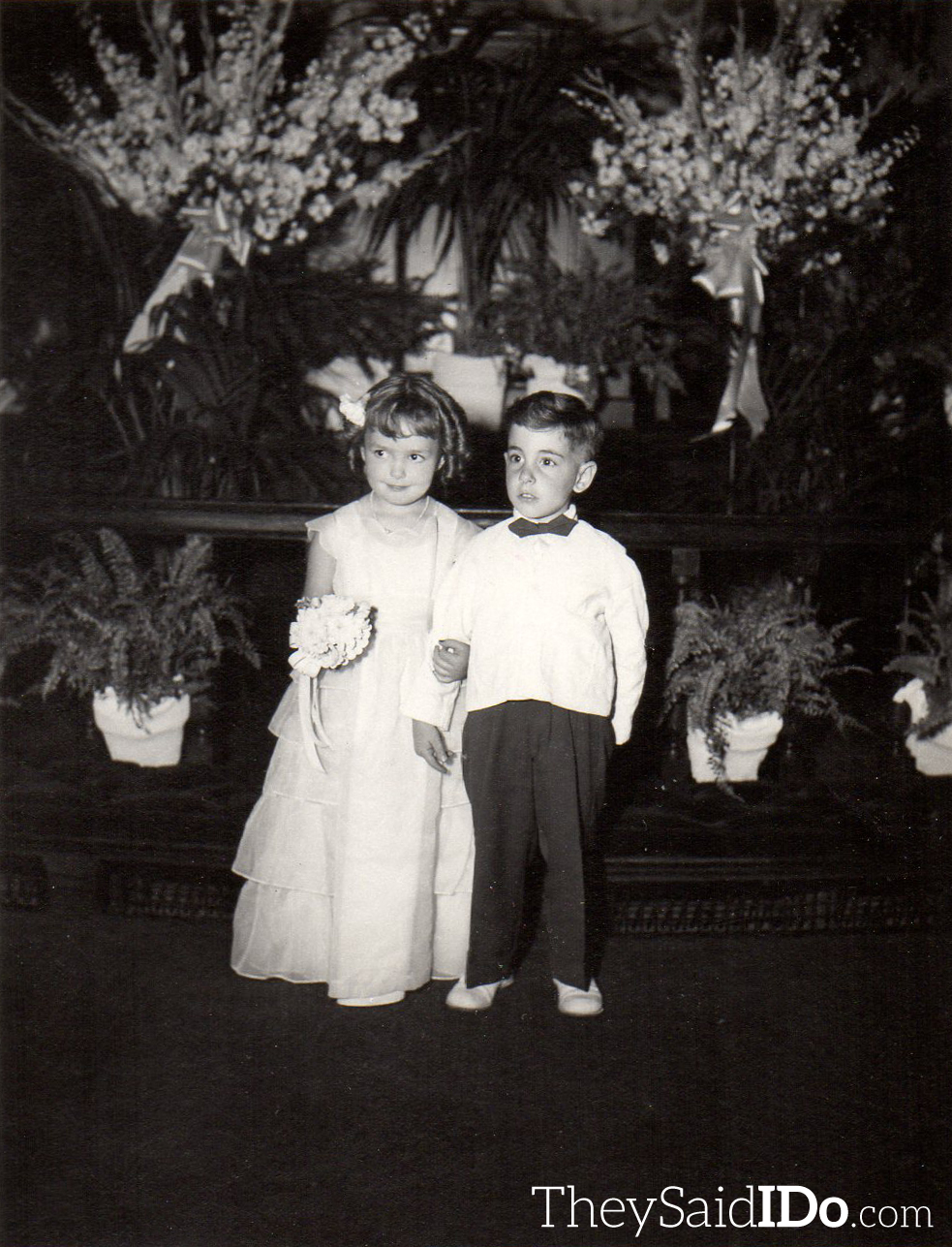The Flower Girl and Ring Bearer Lansing, MI 1951 {TheySaidIDo.com}