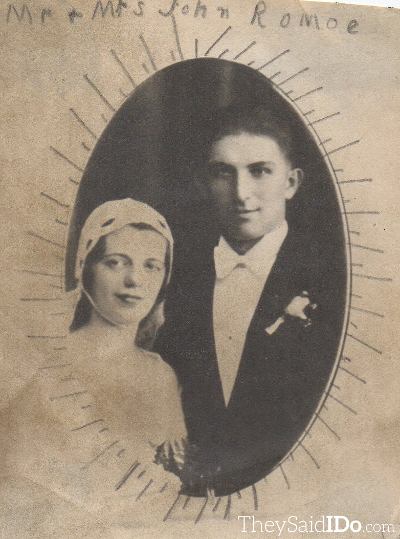 Mr. and Mrs. John Romoe - 1934 {TheySaidIDo.com}