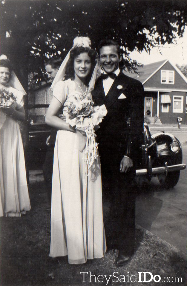Gerrie & Freddy - Wedding Attendants July 22, 1944 {TheySaidIDo.com}