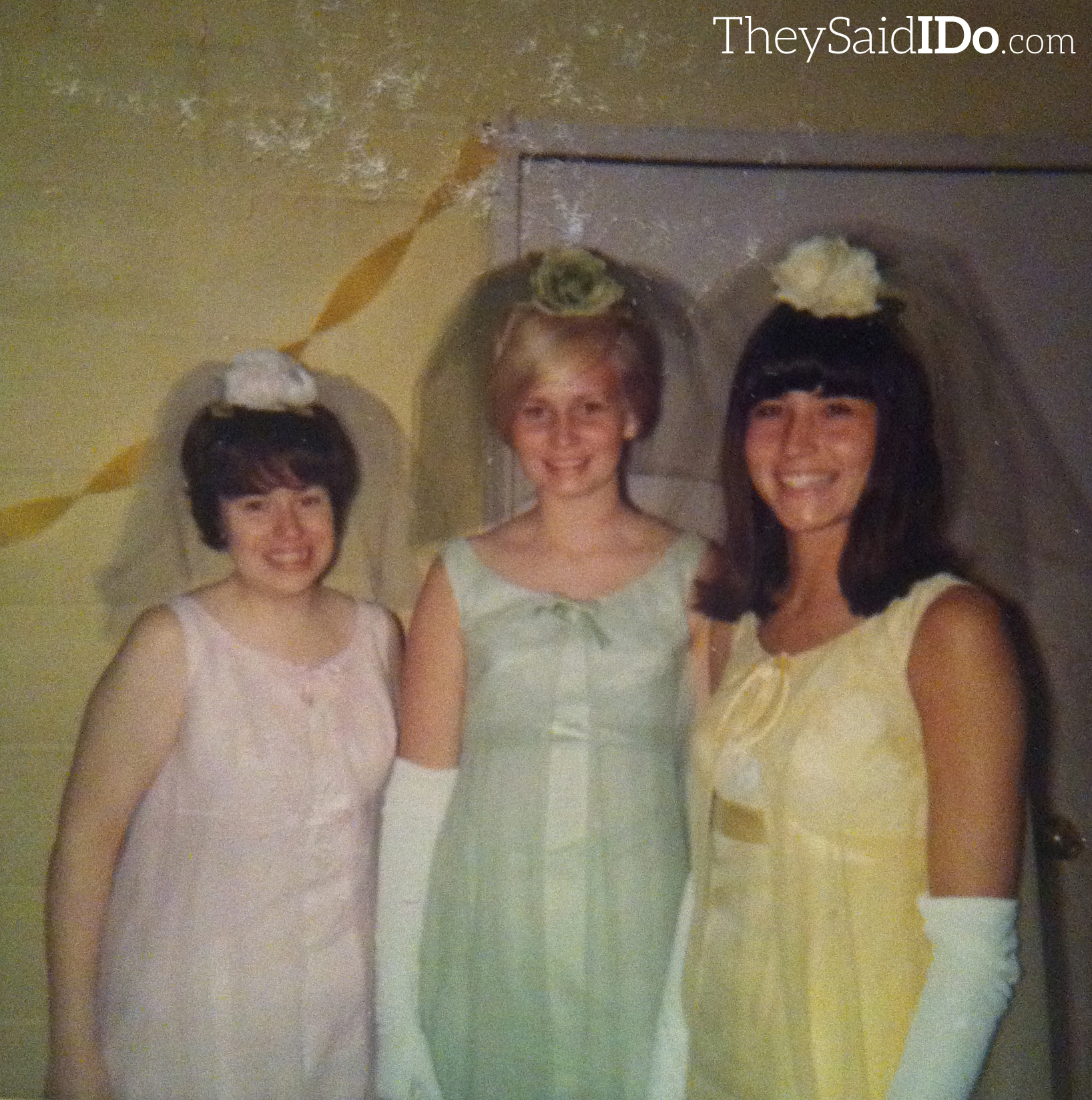 Larry & Dana - 1967 Bridesmaids {TheySaidIDo.com}