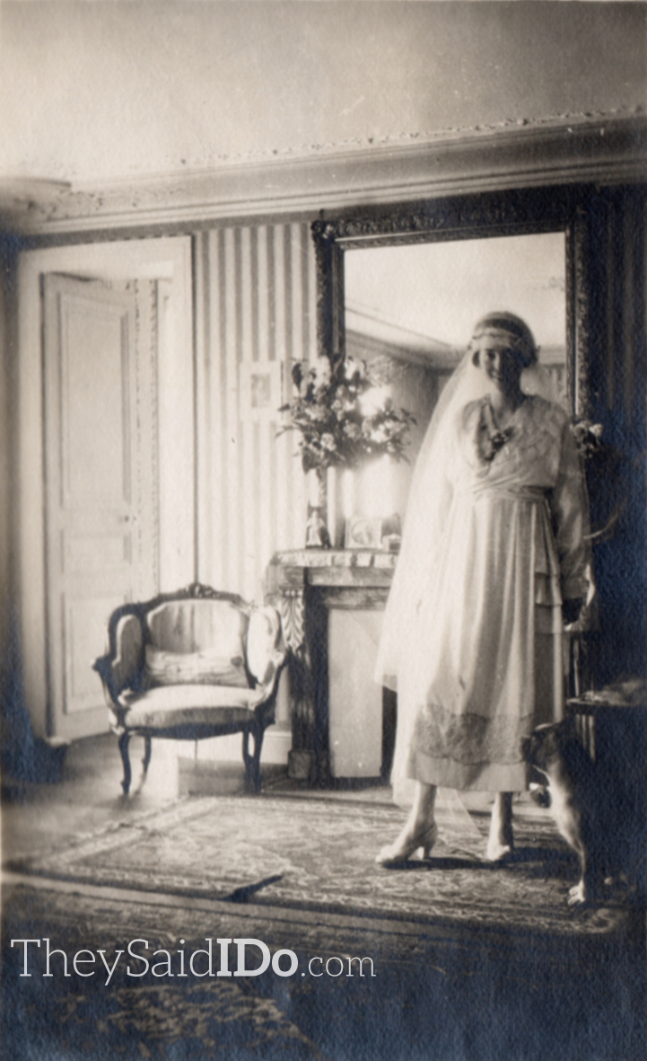 WWI Bride 1910s {TheySaidIDo.com}
