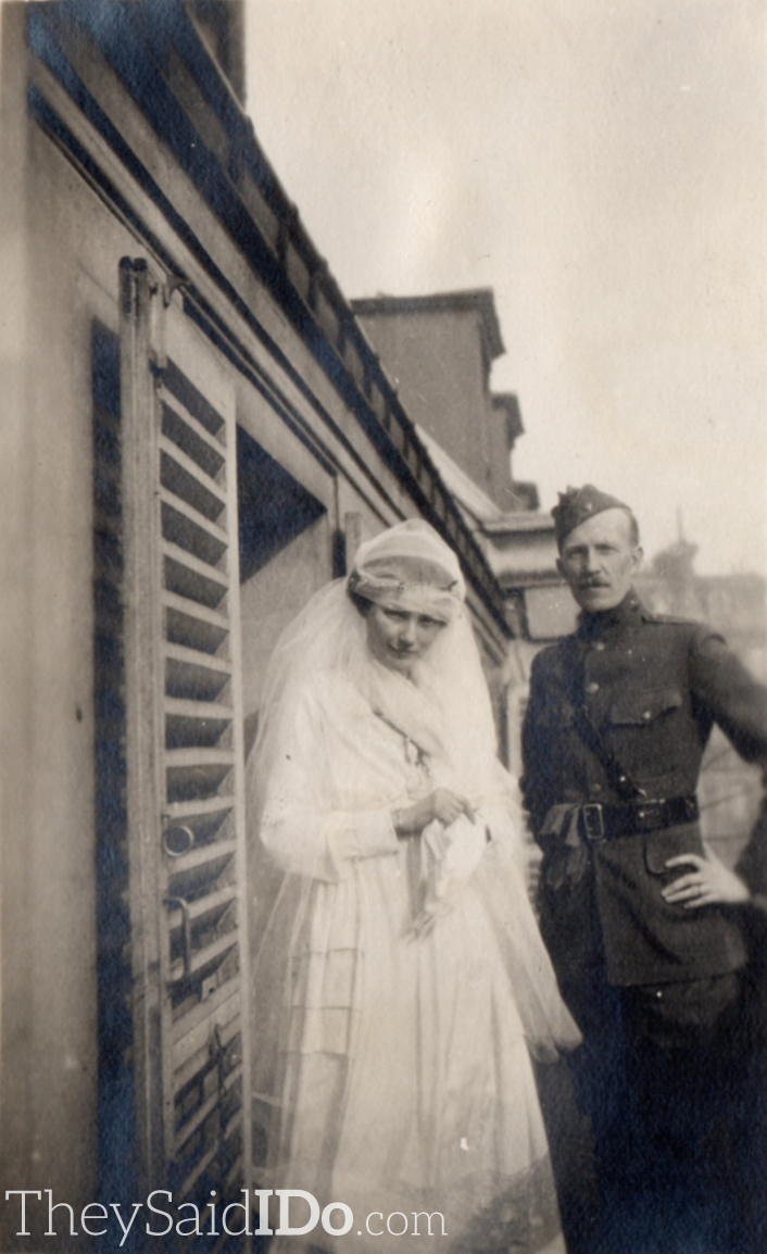 WWI Couple 1910s {TheySaidIDo.com}