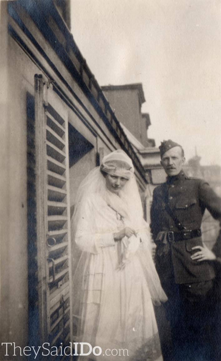 WWI Couple 1910s {TheySaidIDo.com}