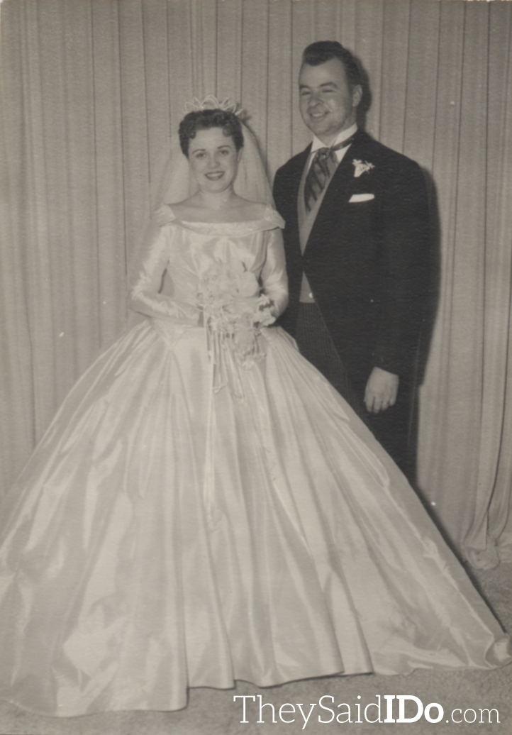 Peggy and Jerry 1951 {TheySaidIDo.com}