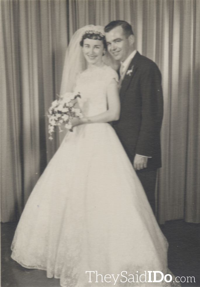 Harry and Kathy - 1958 {TheySaidIDo.com}