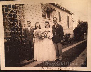 Dorothy and Charles - July 8th, 1942 {TheySaidIDo.com}